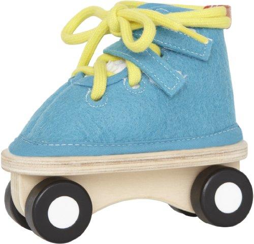 Hape E1020 - Fädelspiel Rollschuh, blau