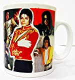 Michael Jackson, Michael Jackson Motiv Collage Tasse Becher Handbemalt in UK)