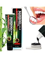 Bamboo Charcoal Toothpaste, Teeth Whitening Toothpaste, MICROBUY Charcoal Tooth Whitening, Activated Charcoal Black Whitening Toothpaste, Deep Clean Dental Cream Oral Hygiene Teeth Care, 120g