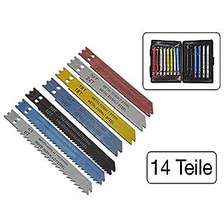14-teiliges Set Stichsägeblätter mit U-Schaft für Holz und Metall
