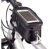 BTR - Alforja para bicicleta con soporte para teléfono, compatible con iPhone, Samsung Galaxy y otros modelos, con cubierta para la lluvia
