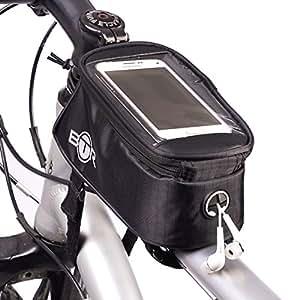 Borsa da fissare al telaio della bici impermeabile BTR e porta-cellulare. Largo 2° generazione