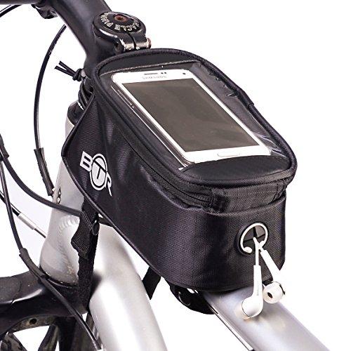 Wasserabweisende BTR-Fahrradrahmentasche & Handyhalterung. 2nd Generation. Groß