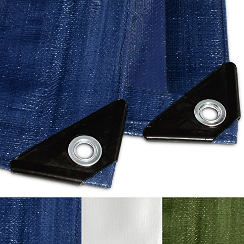 Casa pura telone occhiellato impermeabile e multiuso | blu | 4x6m, 260g/m²