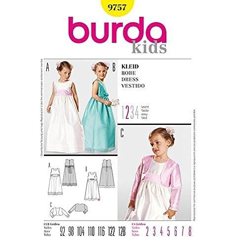 Burda Children's Sewing Pattern 9757-Cartamodello per Bolero & Età: 2-8 anni