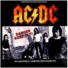 AC DC - Danger - Keep Out!  Limited Edition on Red Vinyl 4afd771448a
