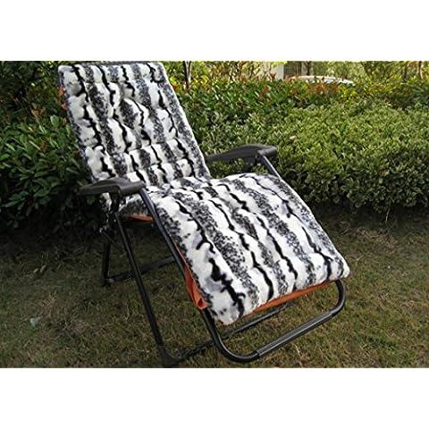Lay imbottita Sedie Pieghevoli Fujitake Mogano pezzo divano cuscino schienale sedia a dondolo cuscini, 9, 145cm