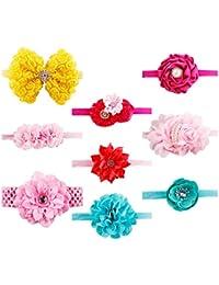 JMITHA Bambino fascia Fasce di fiore della neonata Cerchietto elastico  Accessori per capelli a fiori 727a63bff03d