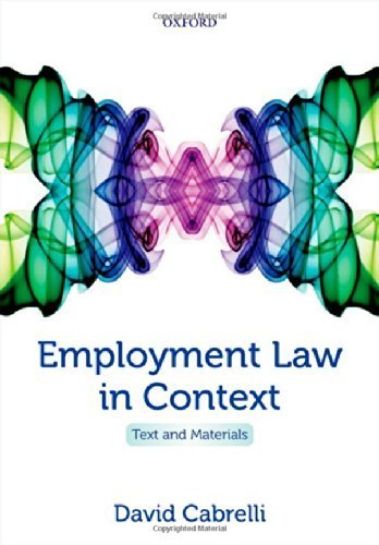 employment-law-in-context-text-and-materials-pap-psc-edition-by-cabrelli-david-2014-taschenbuch