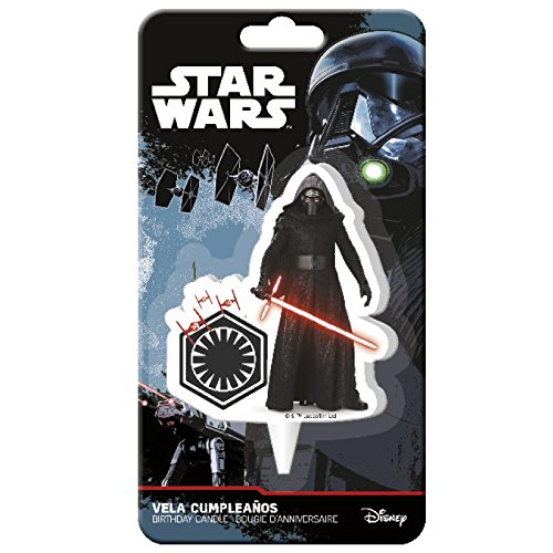 Bougie Kylo Ren Star Wars 2D - Déco Gâteau Anniversaire Enfant - 568 7106895377135