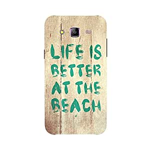 Back cover for Samsung Galaxy J1 Ace Life is Better at the Beach 2