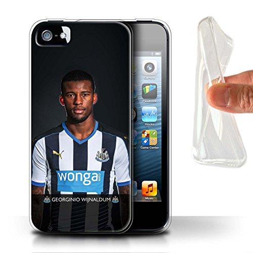 Officiel Newcastle United FC Coque / Etui Gel TPU pour Apple iPhone SE / De Jong Design / NUFC Joueur Football 15/16 Collection Wijnaldum