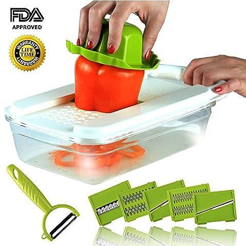 Multipurpose Coupe-légumes trancheuse Mandoline Vegetable-fruit-onion Chopper-dicer-kitchen Cutter à concombre pour spaghettis de légumes pommes de terre courgettes asperges carottes concombre