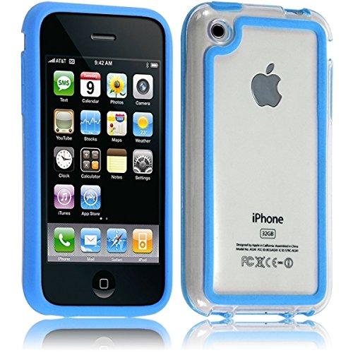 Seluxion - Housse Etui Coque Bumper pour Apple iPhone 3G/3GS couleur bleu clair