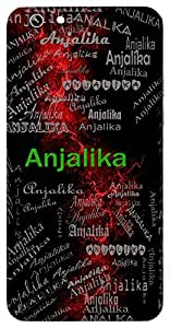 Anjalika (One Of Arjuna's Arrows) Name & Sign Printed All over customize & Personalized!! Protective back cover for your Smart Phone : Moto X-Play