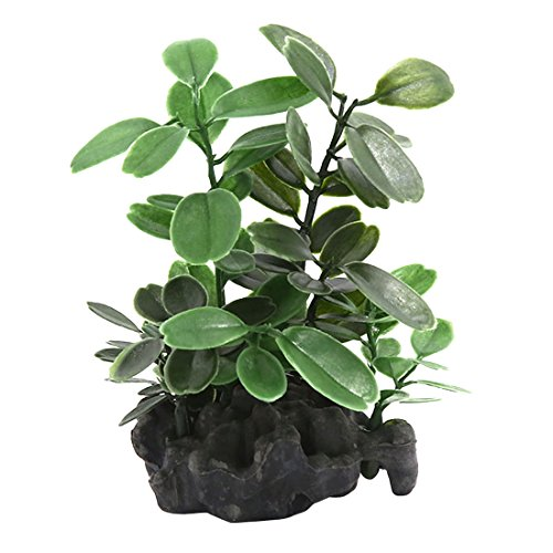 Pflanzen Aquarium Guppys Für (sourcingmap® Aquarium Fisch Tank künstliche grüne Blätter Pflanzen Ornament 10x3x11cm)