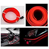 #10: Ramanta™ EL Wire Car Interior Light Ambient Neon Light for Hyundai Elite i20 - 5 Meter Roll (Color: Red)