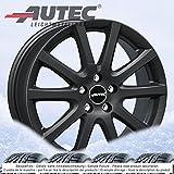 4 Winterräder Autec Skandic ECE 6.5Jx16 ET46 5x112 schwarz mit 205/55 R16 91H Semperit Speed-Grip 2 für Audi A3