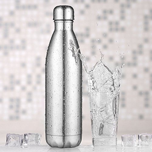 AuPower 1000 ml Botella Acero Inoxidable Agua Botella aislante