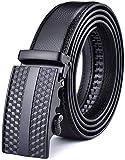 X XHtang Gürtel Herren Automatik Gürtel mit Automatikschließe-3,5cm Breite, A-schwarz.112, Länge 115cm Geeignet für 30-36 taille