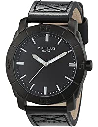 Mike Ellis New York Herren-Armbanduhr Tobaco Analog Quarz Leder SM4340A1