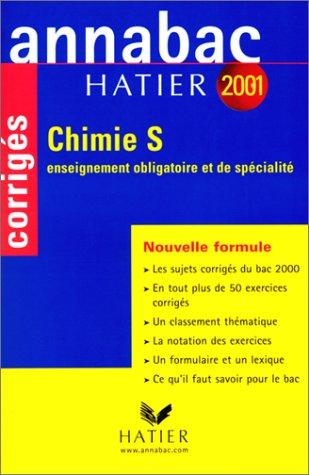 Annabac corrigés 2001 : Chimie S