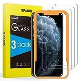 SPARIN [3 Pezzi Compatibile con iPhone XS/iPhone X Pellicola Vetro Temperato, Pellicola Vetro Temperato con [Strumento per Una Facile Installazione]