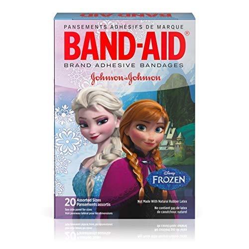 Disney Frozen (Eiskönigin) - 20 Stück Pflaster, Heftpflaster in 2 Größen (7,6x1,9 und 5,7x1,6cm), in verschiedenen Designs