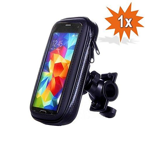 Do!LED 360° universal Smartphone Handy Navi Fahrradhalterung Halter Halterung mit wasserdichter Schutzhülle Tasche Fahrrad Motorrad Mountainbike Lenker (L)