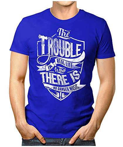 PRILANO Herren Fun T-Shirt - THE-TROUBLE - Small bis 5XL - NEU Blau