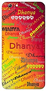 Dhanya (Thankful, Lucky) Name & Sign Printed All over customize & Personalized!! Protective back cover for your Smart Phone : Sony Z3 PLUS