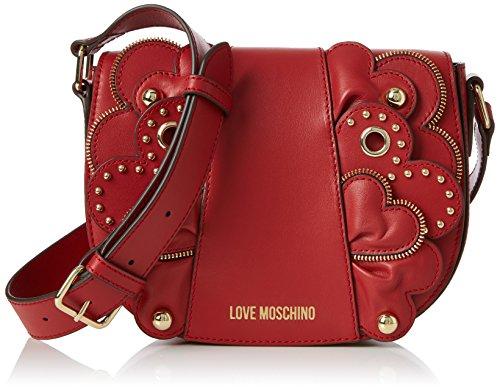 Love Moschino Damen Borsa Vitello Smooth Rosso Baguette, rot (Red), 6 x 17 x 22 cm