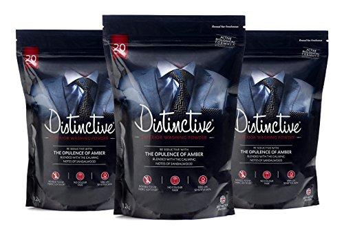 Distinctive Waschpulver - Wäscherei - Powder Detergent - Bio Waschpulver - Eco - männlicher Duft - (3 Stück)