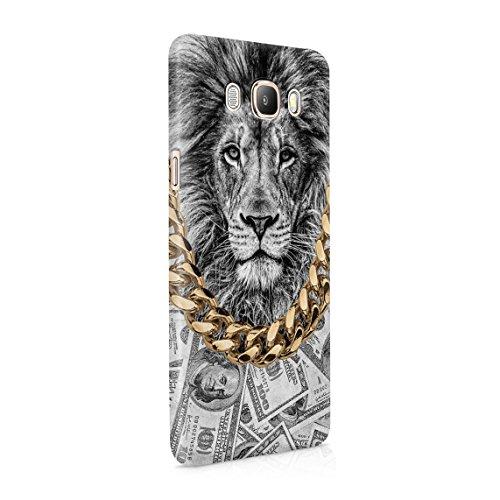 Gold Chains Lion King Cash Billionaire Luxury High Life Swag Dope Trill Dünne Rückschale aus Hartplastik für Samsung Galaxy J5 2016 Handy Hülle Schutzhülle Slim Fit Case cover (Wild Gold Cheetah)