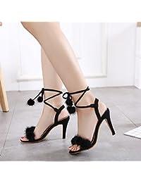 YMFIE Parte la sfera di nozze tacco alto donna scarpe tacco alto cinturino toe sandali,36…