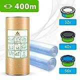 400 M - ECO Recharge de poubelle à couches compatible Sangenic TEC & Simplee | Angelcare | Litière Litter Locker II | Recharge équivalente à 32 Recharges Sangenic | Tube en carton + Parfum Fleurs