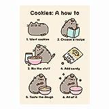 Pusheen Cookies: A, wie zu Grußkarte