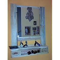 Spiegel aus Europalette mit Schlüsselhaken