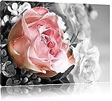 Wunderschöner Pfingstrosenstrauß schwarz/weiß Format: 80x60 auf Leinwand, XXL riesige Bilder fertig gerahmt mit Keilrahmen, Kunstdruck auf Wandbild mit Rahmen, günstiger als Gemälde oder Ölbild, kein Poster oder Plakat