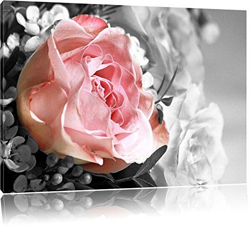 Wunderschöner Pfingstrosenstrauß schwarz/weiß Format: 100x70 auf Leinwand, XXL riesige Bilder...