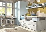ambiato Kinderzimmer Vita 12 Bett mit Gästebett Schubkästen Schreibtisch und extra tiefen Eckkleiderschrank alle Wünsche möglich