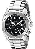 Fossil Herren-Armbanduhr XL Chronograph Quarz Edelstahl FS4926