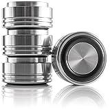 Hifi Lab Aluminium Füße massiv 29x15 Alu Audio Geräte-Füße Silber Absorber 4X