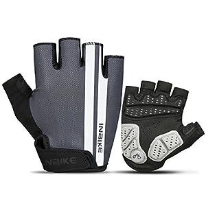 Inbike Cycling Gloves, Bike Gloves Breathable Reflective Mtb