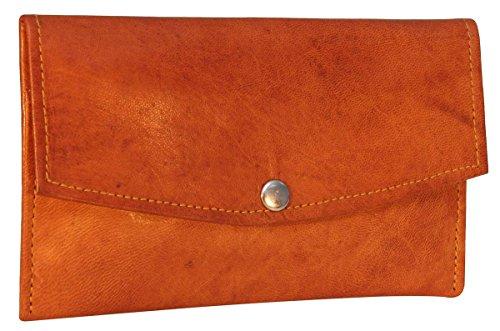 Gusti Leder nature ''Carlo'' Geldbörse Portemonnaie Brieftasche Portemonee Geldbeutel Ziegenleder Vintage Retro Braun A136b -