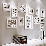 YLDB Combinaison de Photo de Salon en Bois Massif avec Photo en Bois Massif (Couleur: Blanc)