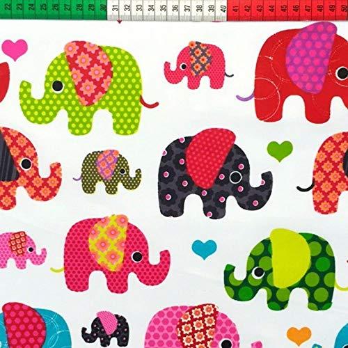 Elefant - ein tolles Stoffmotiv - online auf Stoff123.de