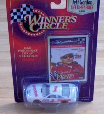 1992-jeff-gordon-1-baby-ruth-ford-thunderbird-2nd-busch-series-car-finished-4th-1-64-scale-winners-c