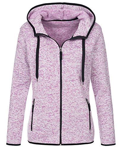 Stedman Strickfleece-Jacke mit Kapuze für Damen, für Sport, Freizeit & Wandern, Premium Qualität Active Outdoor - Größe XL Kapuzen Sport Jacke