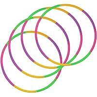 com-four® Neumáticos 4X Hula-Hoop para armar - neumáticos divisibles Hullahub - neumáticos de Fitness - HoolaHoop para niños y Adultos - Verde, Morado, Rosa, Naranja